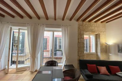 Old Town Palma, furnished one bedroom flat next to Paseo Borne