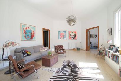 Apartamento con terraza, sin amueblar de 4 dormitorios, 3 baños, garaje en Palma.