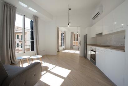 Bonito apartamento amueblado, con balcónes. Zona Plaza Mayor