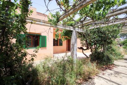 Casa de campo con safereig para renovar en Binissalem.