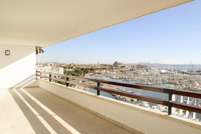 Apartamento de 4 dormitorios de diseño con fantásticas vistas en Paseo Marítimo, Palma