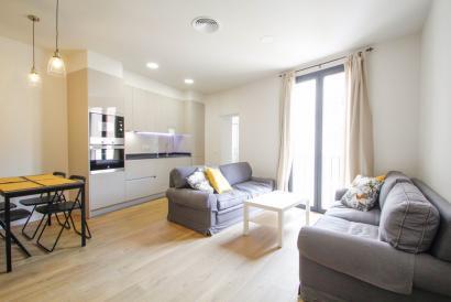 Bonito apartamento amueblado con 2 dormitorios en zona Paseo del Borne.