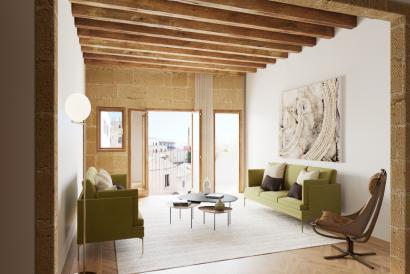 Ático de lujo con terraza y 4 dormitorios en centro histórico de Palma