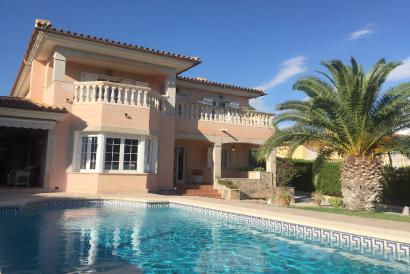 Villa amueblada de 4 dormitorios, jardín y piscina en Sant Marçal, Marratxi
