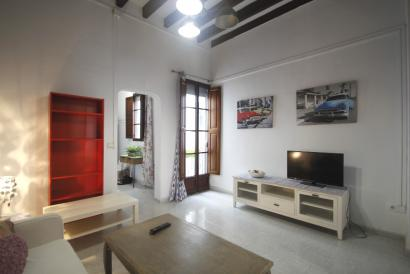 Apartment furnished in the Ramblas area with terrace.