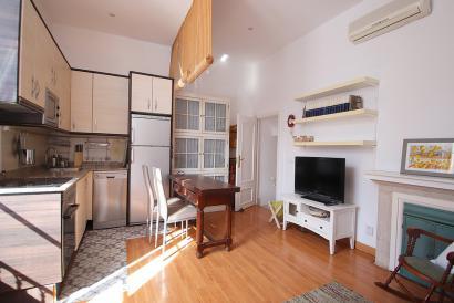 Möbliertes Apartment mit 1 Schlafzimmer ohne Aufzug in der Altstadt von Palma.