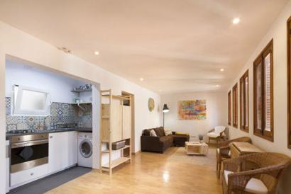 Impecable apartamento amueblado, 2 dormitorios en la Lonja, Casco Antiguo, Palma