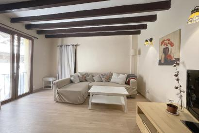 Furnished flat with two bedrooms in the Santa Eulalia church area, Palma.