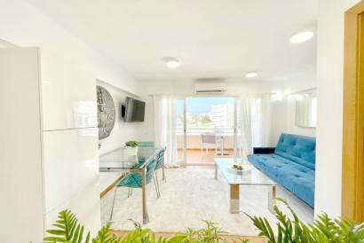 Apartamento amueblado de 1 dormitorio con terraza en Santa Ponsa.